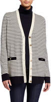 Tory Burch Madeline Striped Long Cardigan