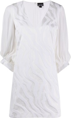 Just Cavalli Embroidered Mini Shift Dress