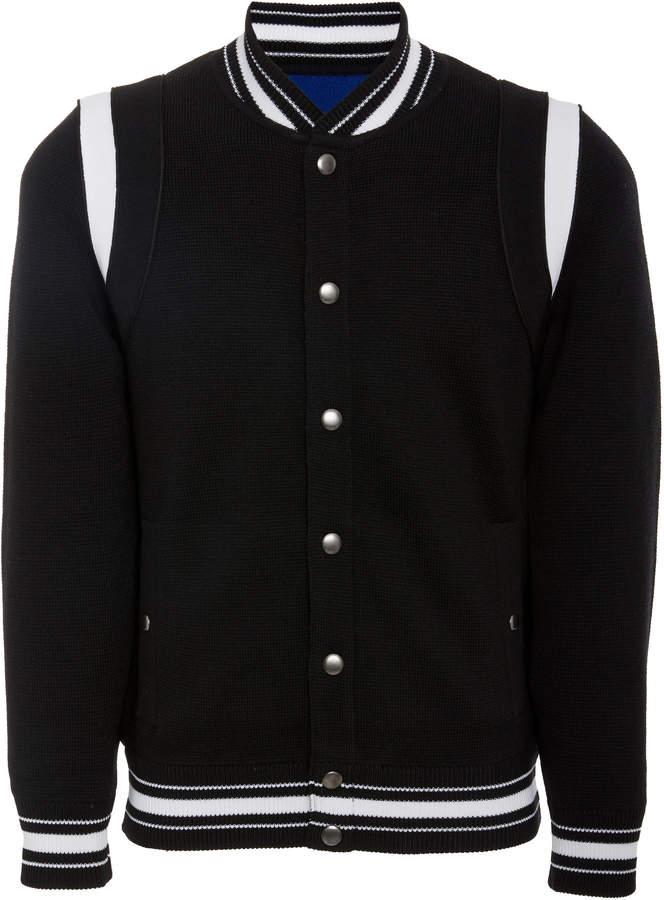 Givenchy Logo-Embroidered Teddy Wool Varsity Jacket
