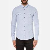 BOSS ORANGE Men's Edoslime Long Sleeve Shirt Aqua