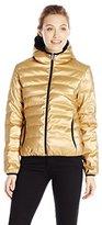 Calvin Klein Jeans Women's Hooded Metallic Puffer