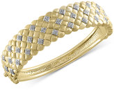 Effy D'Oro by Diamond Weave Bangle Bracelet (5/8 ct. t.w.) in 14k Gold