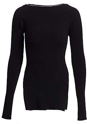 Alexander Wang Women's Moving Rib Long-Sleeve Sweater