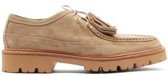 Grenson Bennett Tasselled Suede Derby Chukka Shoes - Mens - Beige