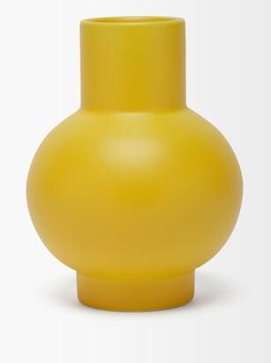 Raawii - Strm Large Ceramic Vase - Yellow