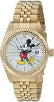Invicta Women's 'Disney Limited Edition' Quartz Stainless Steel Automatic Watch, Color:-Toned (Model: 22775)