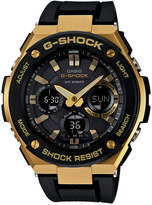 G-Shock Men's Analog-Digital Black and Gold Black Silicone Strap Watch59x52 GSTS100G-1A