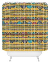"""DENY Designs Valentina Ramos Lottie in Yellow Shower Curtain by 71""""x74"""")"""