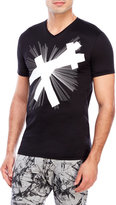 Antony Morato Black Graphic V-Neck Tee