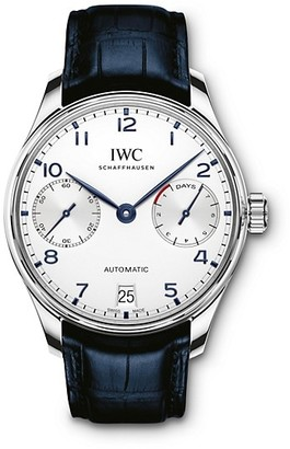IWC Portugieser Stainless Steel Alligator Strap Watch