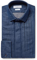 Richard James - Blue Pintucked Washed Cotton-chambray Shirt