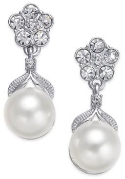 Eliot Danori Silver-Tone Imitation Pearl Post Earrings, Created for Macy's
