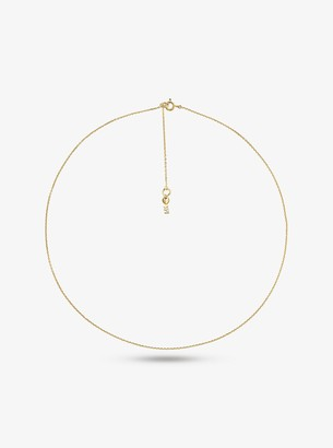 Michael Kors Precious Metal-Plated Sterling Silver Starter Necklace