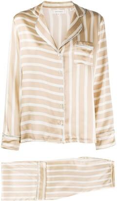 Chinti and Parker Striped Silk Pyjama Set