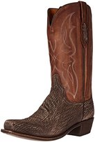Lucchese Classics Men's Carl-chocolate Sanded Shark Riding Boot