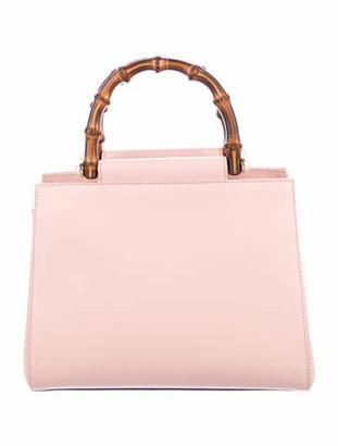 Gucci Small Nymphaea Bamboo Top Handle Bag Pink