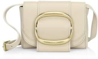 See by Chloe Hopper Oversized Buckle Leather Shoulder Bag
