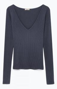 American Vintage Lenacut Long Sleeve T Shirt - M / Anthracite/Charcoal - Grey