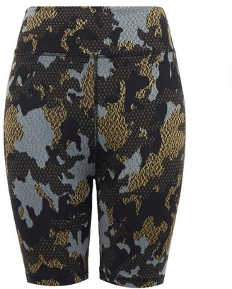 The Upside Twilight Camouflage Technical-jersey Shorts - Womens - Camouflage