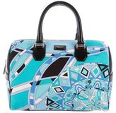 Emilio Pucci Printed Canvas Boston Bag
