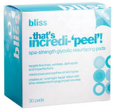 Bliss That's Incredi-'Peel' Spa-Strength Glycolic Resurfacing Pads