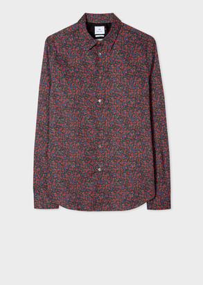 Paul Smith Men's Slim-Fit 'Abstract Camo' Print Shirt