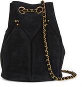 Jerome Dreyfuss Black Suede Popeye Bucket Bag