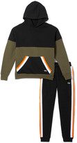 Beverly Hills Polo Club Boys' Sweatpants GRAPE - Grape Leaf Stripe Pieced Hoodie & Joggers - Toddler & Boys