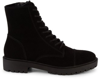 Lucky Brand ICTUS Suede Combat Boots