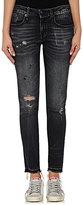 R 13 Women's Alison Crop Skinny Jeans-BLACK