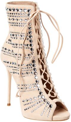 Giuseppe Zanotti Kaylee Embellished Suede Sandal