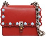 Fendi Small Kan I Scalloped Studs Leather Bag