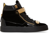 Giuseppe Zanotti Black Velvet London High-top Sneakers