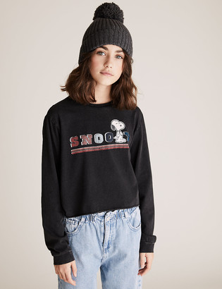 Marks and Spencer Pure Cotton Snoopy Top (6-16 Yrs)