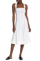 Theory Bustier Linen Blend Midi Dress
