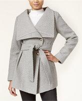 Jessica Simpson Asymmetrical Button-Front Wrap Coat