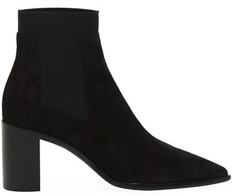 Rag & Bone Brynn Block-Heel Suede Chelsea Boots