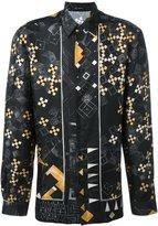 Versace domino print shirt - men - Silk - 39