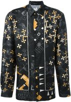 Versace domino print shirt - men - Silk - 43