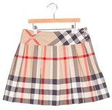 Burberry Girls' Supernova Check Pleated Skirt