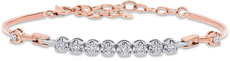 Diamond Select Cuts 14K Two-Tone 0.77 Ct. Tw. Diamond Station Bracelet