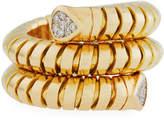 Marina B Trisola 18k Yellow Gold Diamond Coil Ring