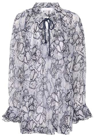 See by Chloe Printed cotton and silk top