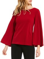 Preston & York Lindsey Pleated Long Sleeve Knit