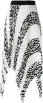 Proenza Schouler pleated asymmetric panel skirt - women - Silk/Polyester/Acetate/Viscose - 2