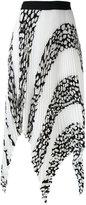 Proenza Schouler pleated asymmetric panel skirt