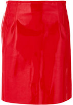 Philosophy Di Lorenzo Serafini patent mini skirt