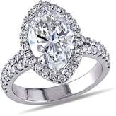 Ice Julie Leah 3 3/4 CT TW Diamond Halo Engagement Ring in 19k White Gold
