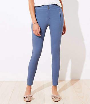 LOFT Tall High Waist Skinny Sateen Pants
