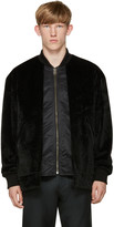 Toga Virilis Black Faux-Fur Layered Bomber Jacket
